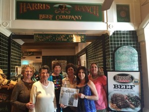 "We took this picture in front of the meat counter at Harris Ranch Inn, Coalinga, CA after the joint meeting of CCW and California Women for Agriculture and the feedlot tour.   It appeared in our local paper (Lassen Co. Times) in a special section ""Where in the world has my paper been?"""