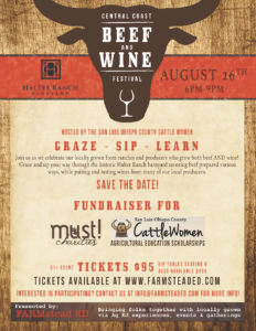 SLO Cattlewomen - Beef and Wine Festival @ Halter Ranch | Paso Robles | California | United States