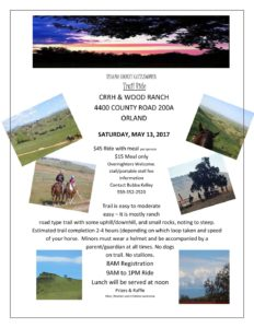 Tehema County Trail Ride @ CCRH & Wood Ranch