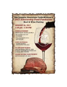 San Joaquin Stanislaus Beef and Wine Scholarship Fundraiser @ Sorelle Winery | Lodi | California | United States