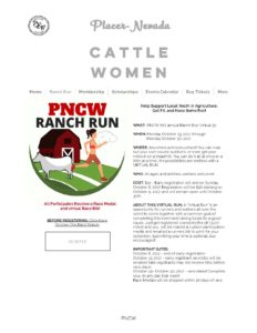 Placer Nevada Cattlewomen Ranch Run -Virtual Event! @ Virtual Event!