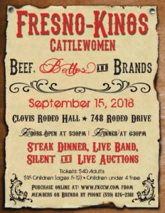 Fresno Kings CCW - Beef, Belles and Brands! @ Clovis Rodeo Hall | Clovis | California | United States